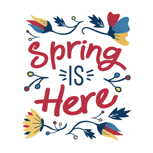 Flor de primavera es aquí brote pétalo tallo hoja plana Transparent PNG