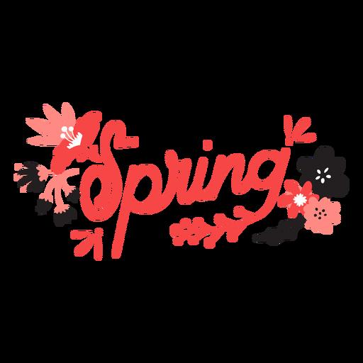 Flower spring bud petal stem leaf flat Transparent PNG