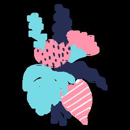 Flor tallo brote hoja pétalo plano