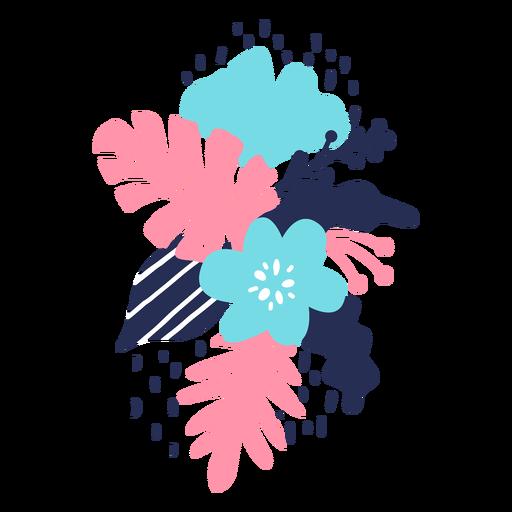 Flor tallo brote pétalo hoja polen plano Transparent PNG