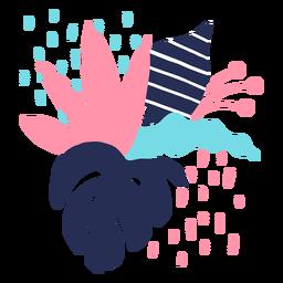 Blütenstammknospen-Blütenblatt-Blütenstaubblatt flach