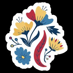 Flor tallo hoja brote pétalo plana