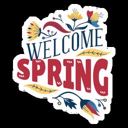 Frühlingsknospenblumenblatt-Stammblatt der Blume willkommenes