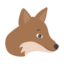Fox head muzzle flat sticker