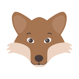 Fox muzzle head flat sticker