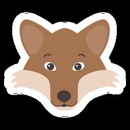 Pegatina plana cabeza de boca de zorro