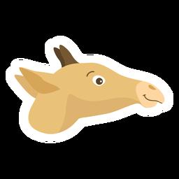 Etiqueta lisa dos ossicones da cabeça do girafa
