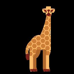 Girafa, ponto longo, pescoço, alto, ossicones, apartamento, arredondado, geomã © ´ricas