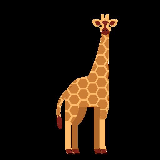 Girafa, ponto longo, pescoço, alto, ossicones, apartamento, arredondado, geomã © ´ricas Transparent PNG
