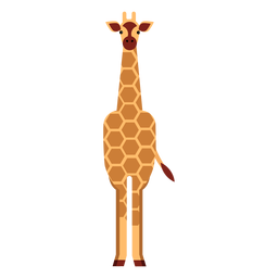 Giraffe neck spot tall long ossicones flat rounded geometric