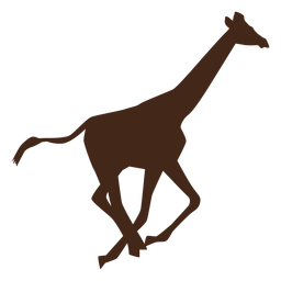 Jirafa correr cuello alto largo ossicones silueta