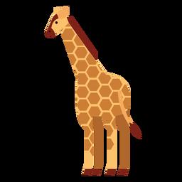 Giraffe spot neck tall long ossicones flat rounded geometric