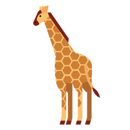 Punto jirafa cuello alto largo ossicones liso redondeado geométrico