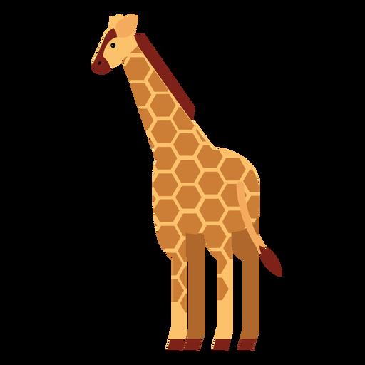 Girafa, mancha, pescoço, alto, longo, ossicones, apartamento, arredondado, geomã © ´ricas Transparent PNG