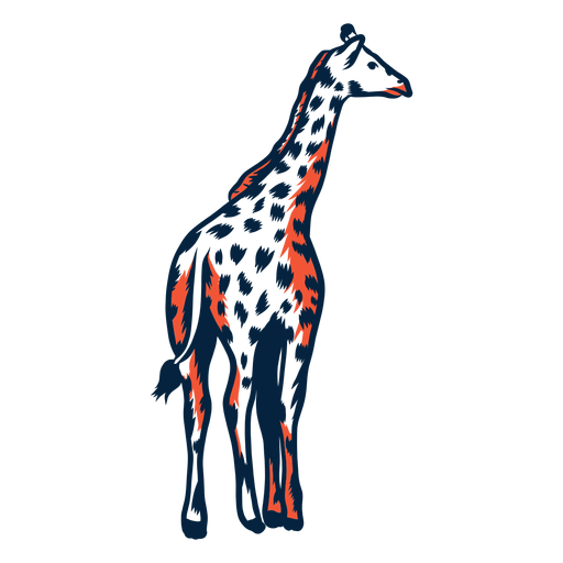 Giraffe spot tall neck long ossicones stroke duotone Transparent PNG