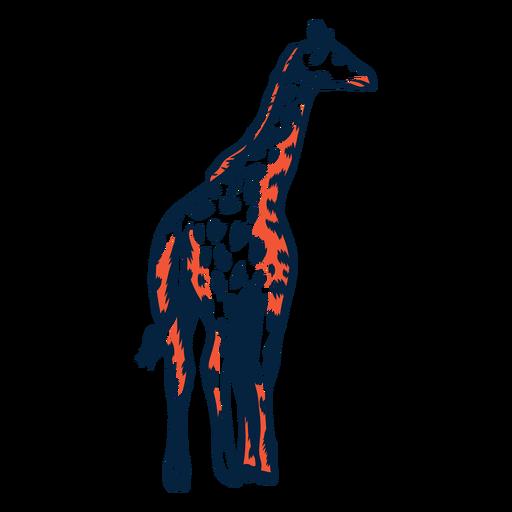 Jirafa mancha cuello alto ossicones largo trazo duotono Transparent PNG