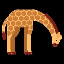 Giraffe tall spot neck long ossicones flat rounded geometric