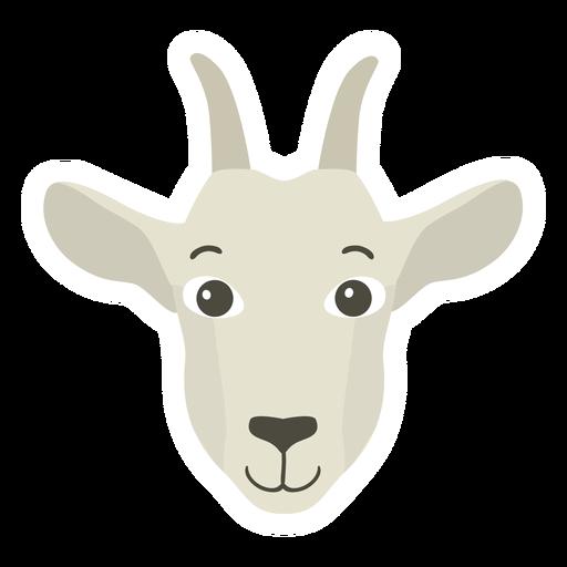 Goat head horn flat sticker Transparent PNG