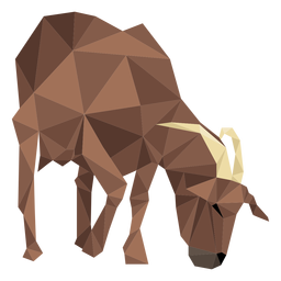 Goat hoof horn low poly