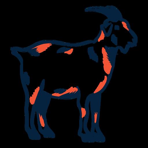 Cabra con pezuña cuerno de carrera duotono Transparent PNG