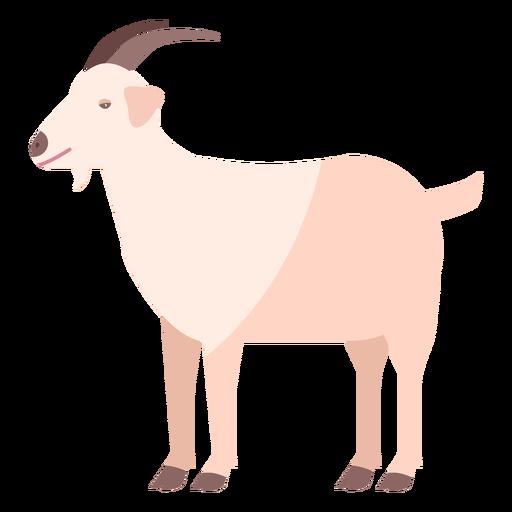 Goat hoof horn tail flat animal Transparent PNG