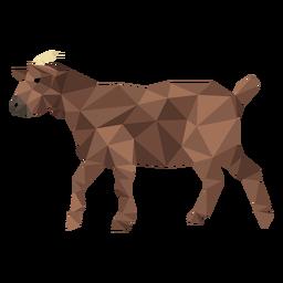 Cuerno de enganche de cabra cola baja poli
