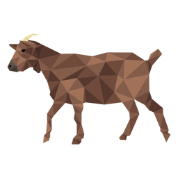 Goat hoof horn tail low poly