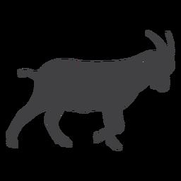 Silueta de cola de cuerno de pezuña de cabra