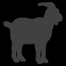 Silhueta de chifre de cauda de casco de cabra