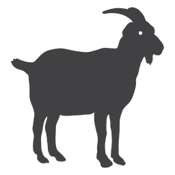 Silueta de cuerno de cola de pezuña de cabra