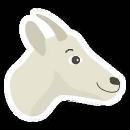 Goat horn flat sticker