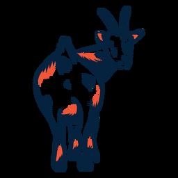 Goat horn hoof tail stroke duotone