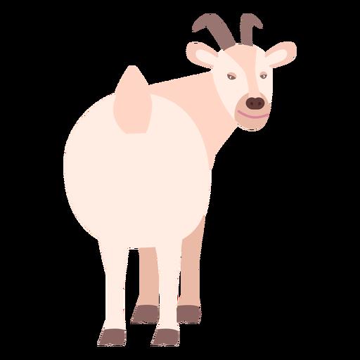 Flaches Tier des Ziegenschwanzhufhorns Transparent PNG