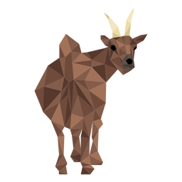 Goat tail hoof horn low poly