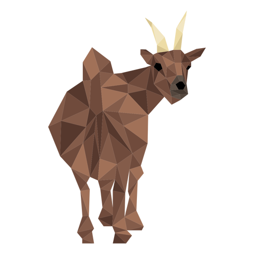 Goat tail hoof horn low poly Transparent PNG