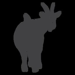 Silueta de cuerno de pezuña con cola de cabra