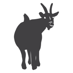 Ziegenschwanz-Hufhorn-Silhouette
