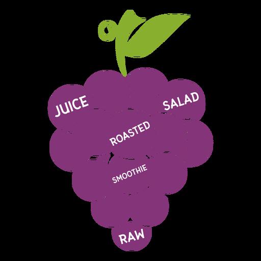 Salada de suco de uva assada smoothie cru liso Transparent PNG
