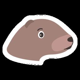 Etiqueta principal da lontra do focinho da cabeça