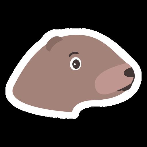 Etiqueta principal da lontra do focinho da cabeça Transparent PNG