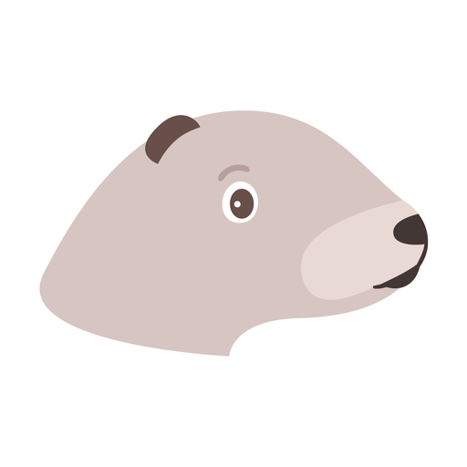 Head otter muzzle flat sticker Transparent PNG