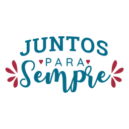 Juntos para semple portuguese text heart sticker