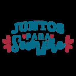 Juntos para semple texto em português adesivo coração