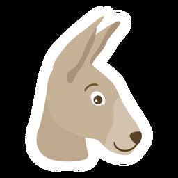 Kangaroo ear head muzzle flat sticker