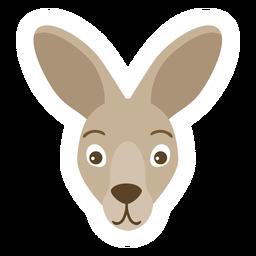 Adesivo de cabeça de canguru açaime plana