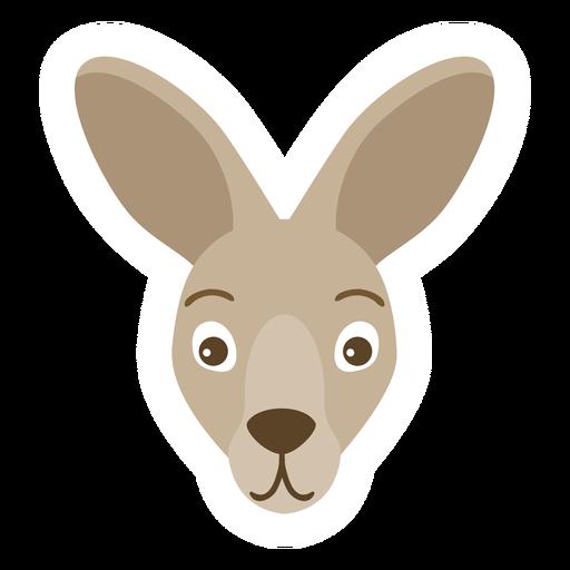 Kangaroo head ear muzzle flat sticker Transparent PNG