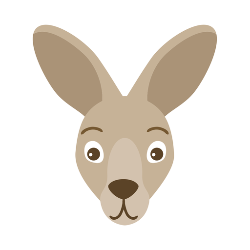 Pegatina plana hocico oreja de canguro Transparent PNG