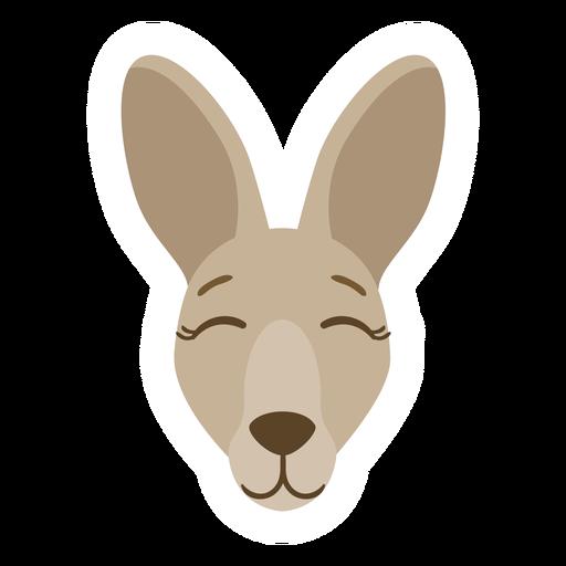 Kangaroo head muzzle ear flat sticker Transparent PNG