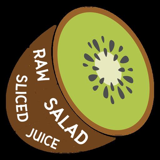Kiwi salada crua fatiada suco liso Transparent PNG