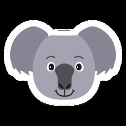 Etiqueta plana do nariz da cabeça da orelha do Koala